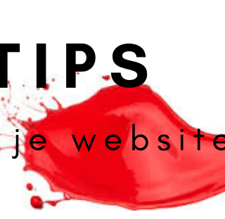 Tips voor je website