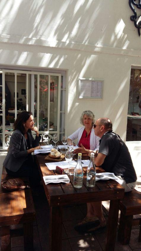 Lunch met Geraldine Reymenants, vertegenwoordiger van de Vlaamse Regering