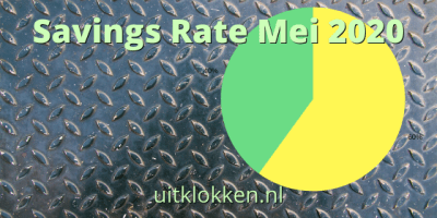 Savings Rate Mei 2020