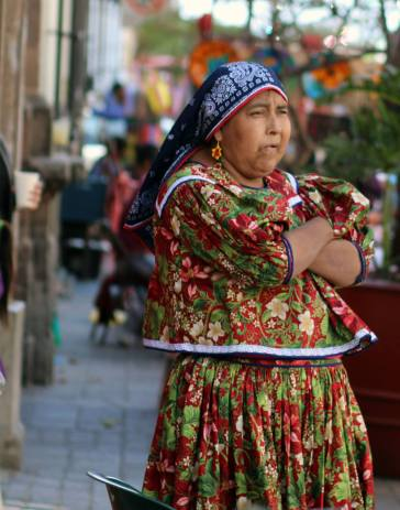 Traditional Mexican Indigenous outfit