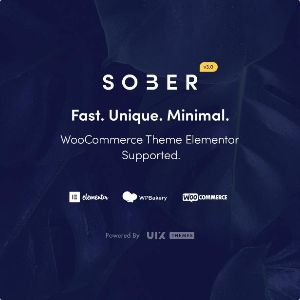Sober WooCommerce WordPress theme