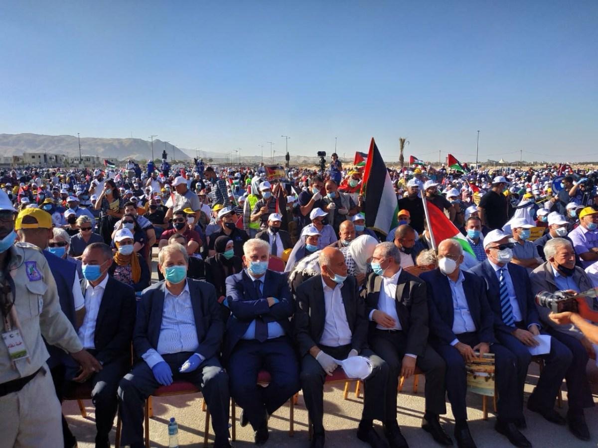 Több ezer palesztin vett részt a Fatah rendezte annektálás elleni tüntetésen Jerikóban