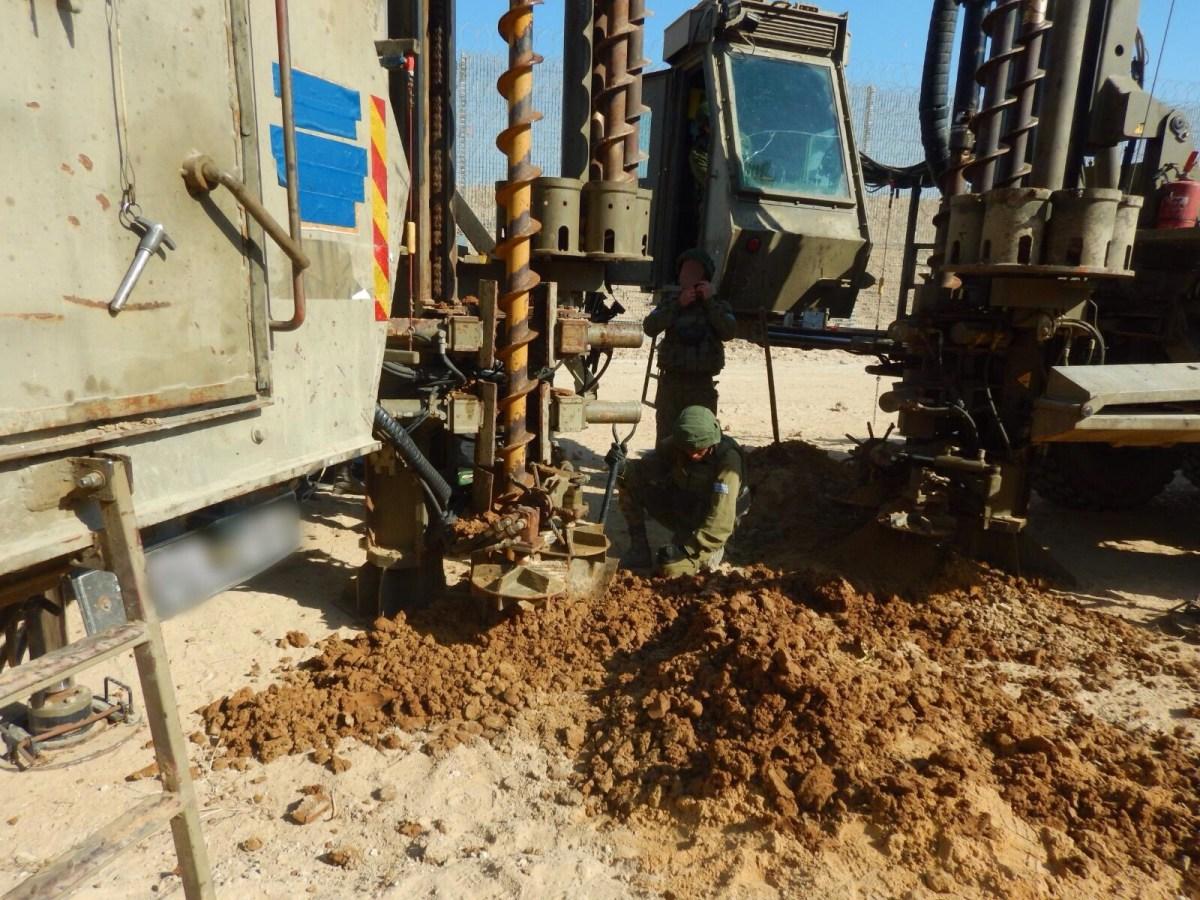 A hadsereg talált egy izraeli területre átnyúló terroralagutat a gázai határnál