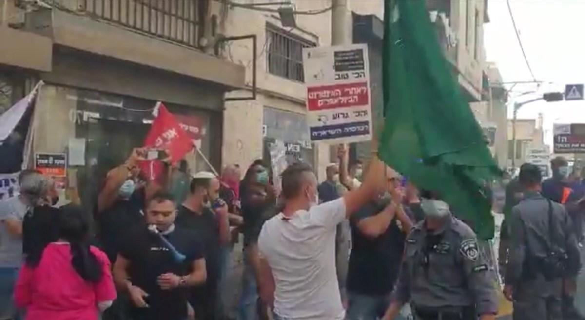 Ismét tüntettek Tel Avivban a kisvállalkozások tulajdonosai