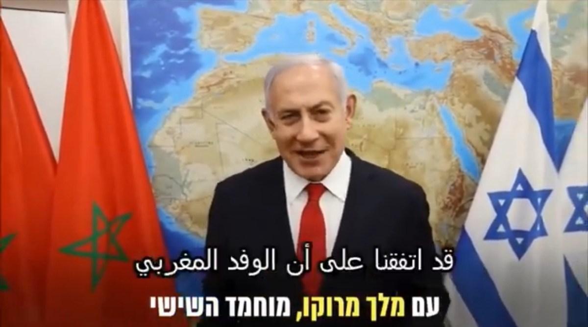 A Netanjahu videójában szereplő térkép feldühítette a marokkóiakat