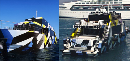 Jeff Koons tervezte személyi yacht Dakis Joannou műgyűjtő számára