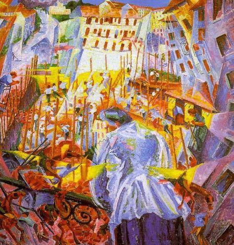 Umberto Boccioni (1882-1916): Az utca betör a házba (1911)