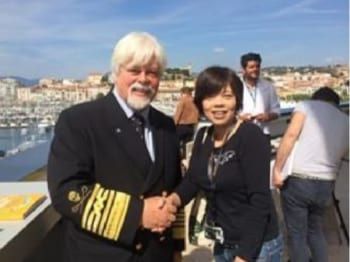 Paul Watson氏(左) 八木景子監督(右)