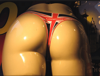 Sexy Mannequin In London Thong