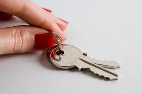 Fingers Holding Keys