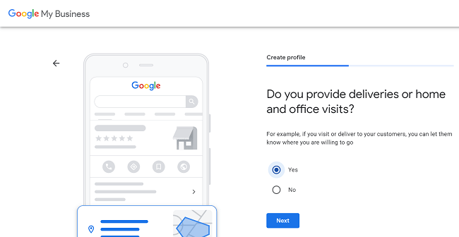 Confirming if your business delivers on Google My Business
