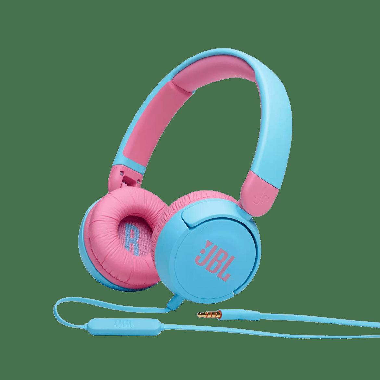 JBL Jr310 - Blue - Kids on-ear Headphones - Hero