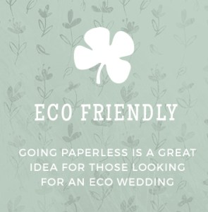 Paperless Wedding - Eco Friendly