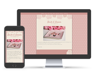 Paperless Wedding Website Dotty Pink Template