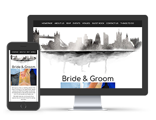 Paperless Wedding Website London City Skyline Template