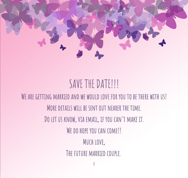 Save the Date template Flutterby