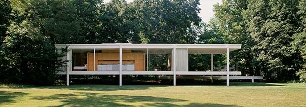 Farnsworth House, Plano, Ilinois, (1945-51) - Mies van der Rohe