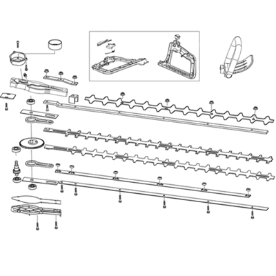 Mitox Mitox HTD-600 & HTDS-600 Hedge Cutter Upper Blade
