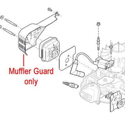 Mountfield Mountfield RS100 Engine Muffler Guard 118550709/0