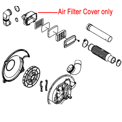 Mitox Mitox Air Filter Inside Cover 650B 65B Backpack Blower MIEB-650.5.2