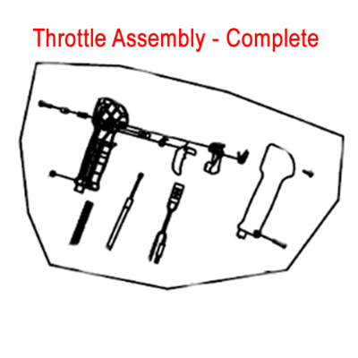 Gardencare Gardencare Throttle Assembly B650 Backpack Blower GC3WF-16.3.2