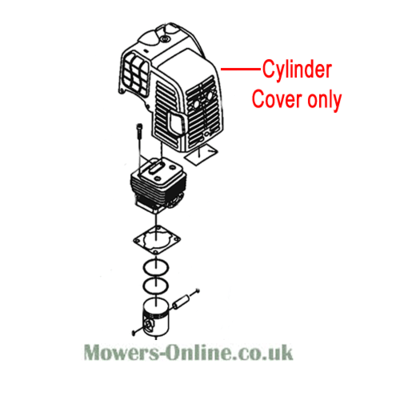 Mitox Mitox Replacement Hedge Trimmer Cylinder Cover (MI1E34F-E.5)