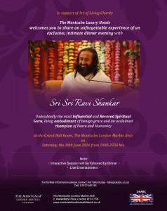 Sri Sri UK Tour - Evening Dinner invite