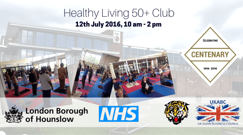 UKABC Promotes Over 50 Healthy Living Project – 12th July 2016 at Indian Gymkhana Club