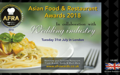 Invitation and announcement of Sponsorship Opportunities Asian Food & Restaurant Awards 2018 in Association with UK Asian Business Council, Tuesday 31st July 2018, London UK