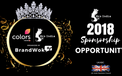 Invitation and announcement of Sponsorship Opportunities at Mrs India UK in Association with UK Asian Business Council, April 15th, 2018 at Hilton Tower Bridge