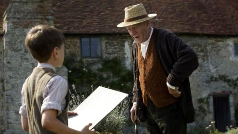 Ian McKellen et Milo Parker dans Mr Holmes.