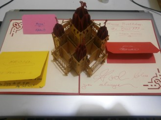 Our birthday present (Vietnamese pop-up card) for Fr. Paul (1)