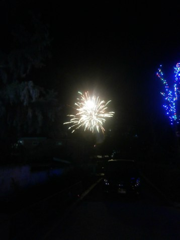 A firework as seen outside my room in S.A.G.
