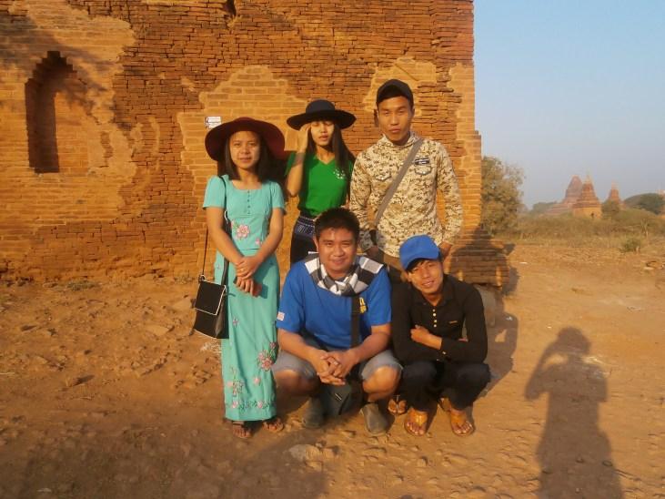 My Myoma Family at Bagan!
