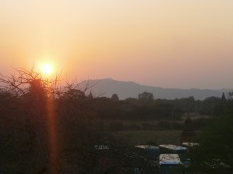 A sunset view of Bagan