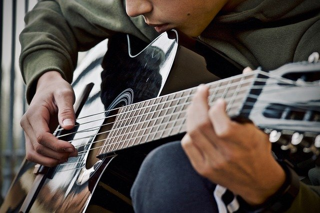 Guitar Guitarist Musical Instrument  - sweetlouise / Pixabay