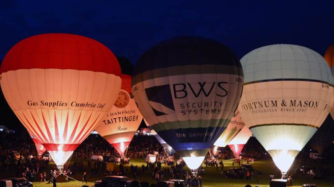 Bristol Balloon Fiesta 2015 Night Glow