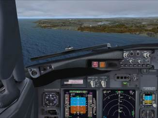 Approaching Cardiff with Orbx FTX Wales and UK2000 Cardiff Extreme