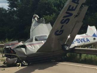 Piper PA28 G-SVEA (Image: Facebook/Gwent & Moore)