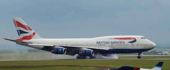 British Airways Boeing 747-400 at Cardiff Airport (Image: Aviation Wales)