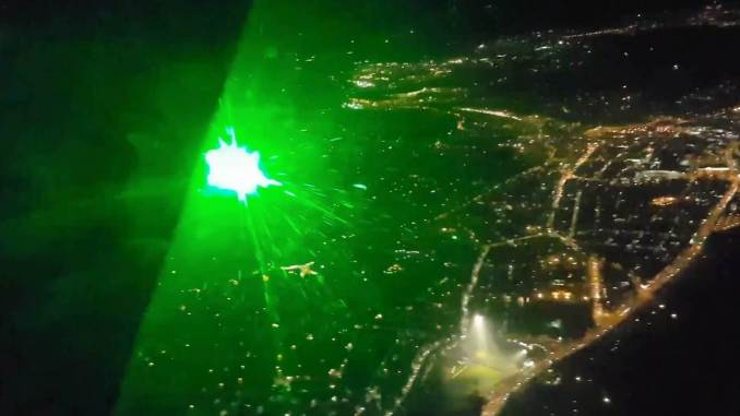 Wales Air Ambulance Laser attack (Image: Wales Air Ambulance)