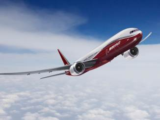 GE9X powered Boeing 777X (Image: Boeing)