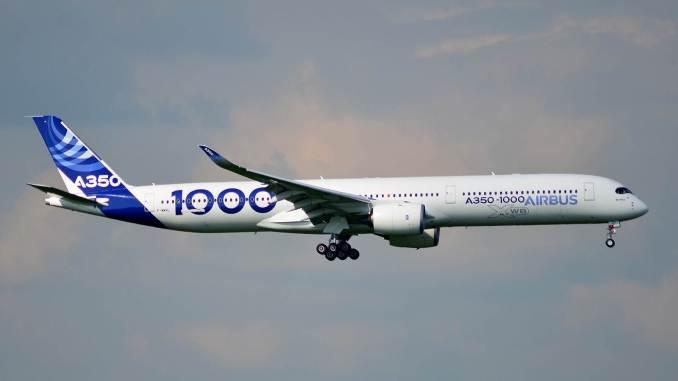 Airbus A350-1000 XWB F-WWXL landing at Cardiff Airport (Image: IanG / SWAG)