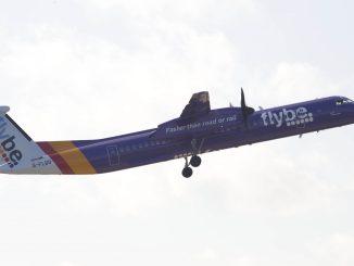 Flybe Q400 Purple Plane