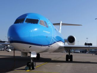 KLM carries out final fokker f70 flights