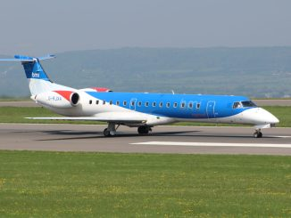 Plane leaves runway in at Bristol Airport
