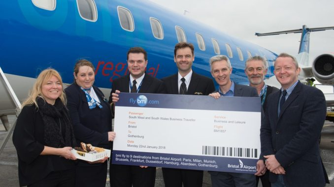 Bristol to Gothenburg flights get underway