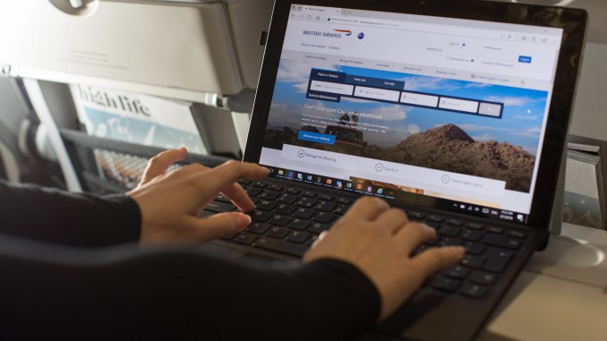 British Airways launches onboard WiFI