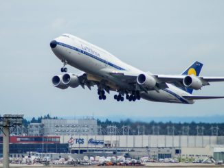 A Boeing 747-8i in Lufthansa Retro colours