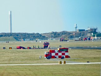 Crash scene at RAF Valley (David Robert Jones/@Monwysyn)